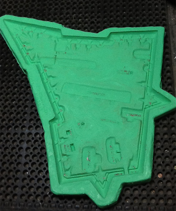 Silicone Mold Made From Clay Original