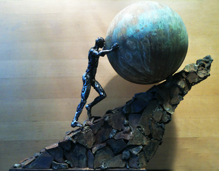 Sisyphus in steel