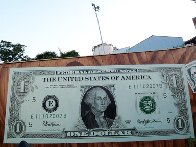 18 foot dollar bill